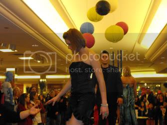 Me and my escort (as well as boyfriend) exiting the stage
