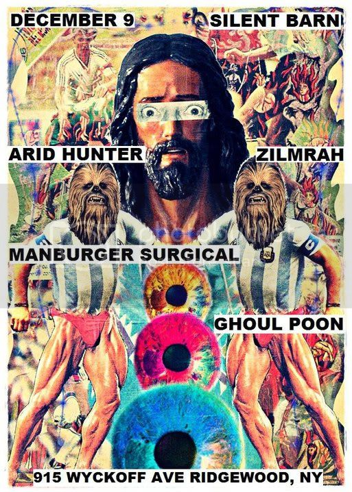 Manburger Surgical,Ghoul Poon,Silent Barn,Zilmrah,Arid Hunter,Colin Sanderson